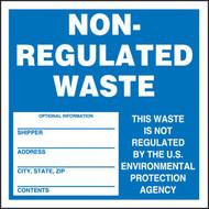 Hazardous Waste Labels, NON-REGULATED WASTE