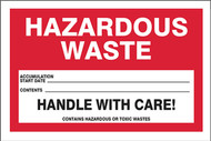 Hazardous Waste Labels, HAZARDOUS WASTE
