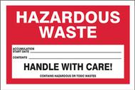 Hazardous Waste Labels, HAZARDOUS WASTE