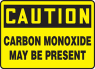 Caution Carbon Monoxide May Be Present OSHA signs
