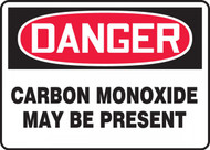 Danger Carbon Monoxide May Be Present OSHA signs