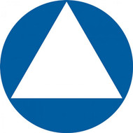 A photograph of a 03481 california title 24 ada restroom sign, gender-neutral in blue.
