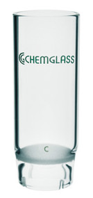 A photograph of a representative coarse CG-1372 fritted glass extraction thimble for Soxhlet extraction.