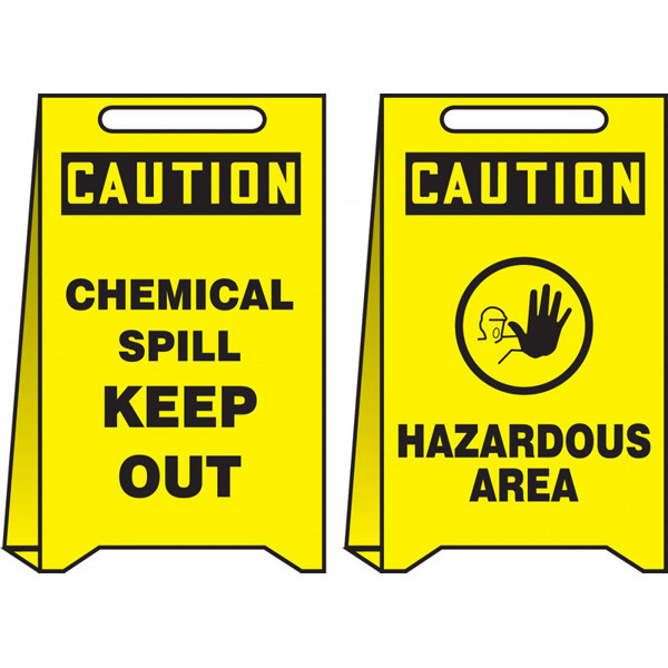 Reversible Caution Chemical Spill Keep Out And Hazardous