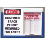 A photograph of a 08501 indoor/outdoor confined space permit station.