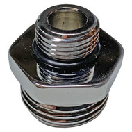 A photograph of a top oblique view of the BO057 Male Garden Hose Adapter for WaterSaver Laboratory Faucets and Valves.