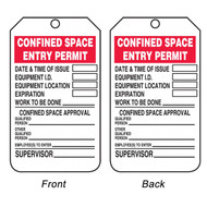 Confined Space Entry Permit Tags