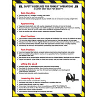 Forklift Safety Poster: Safety Guidelines For Forklift Operations w/ Detailed Text
