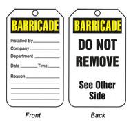 Barricade Tags