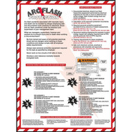 Picture of arc flash protection safety poster.