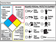 NFPA Labels w/ Personal Protective Equipment (PPE) Index
