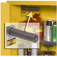 A photograph of a j-29916 vaportrap™ filter for voc vapors inside flammable storage cabinets, 2/pkg.