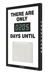 Countdown Digi-Day® 3 Electronic Scoreboard: There Are Only ____ Days Until, Black & White