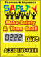 A photograph of a 06238 mini digi-day® safety scoreboard: teamwork improves safety - make safety a team goal - ____ days accident free.
