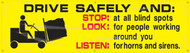 Workplace Safety Banner: Forklift, Drive Safely