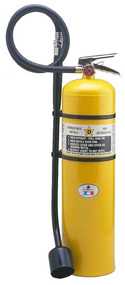 A photograph of a 30 pound Badger Model WB570 Class D Sodium Chloride Fire Extinguisher.