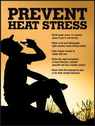 Picture of heat stress safety poster.