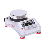 Photograph of Ohaus Guardian™ 7000 Round Top Hotplate Stirrer, right facing.