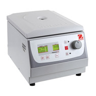 Photograph of Ohaus Frontier™ 5706 Multi-Function Centrifuge, right facing, lid closed.