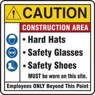 Drawing of the Safety Banner/Sign: Caution | Construction Area.