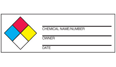 A drawing of the label as described in the text.