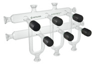 A photograph of a af-0060 dual line vacuum manifold complete system w/ 3, 4, or 5 ports.