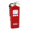 A photograph showing the front view of an Oval 10H-PKP fire extinguisher.