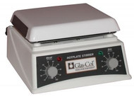 A photograph of a 20952 glas-col laboratory magnetic stirring hotplate, 7.5 x 7.5 top.