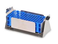 Photograph of Pivoting Full Size Test Tube Rack for Ohaus Shaker Platforms, for 13 mm tubes.