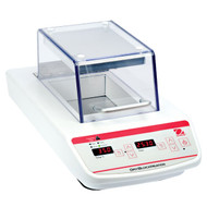Photograph of Ohaus Digital 2 Block Dry Block Heater with heated Lid, right facing, lid closed.