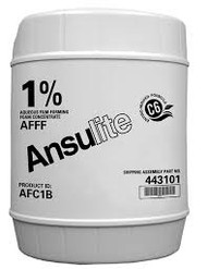 A black and white picture of a 5 gallon drum of Ansulite™ AFC1B 1% AFFF Concentrate.
