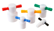 A photograph of a cg-3020-a ptfe flask length stoppers.