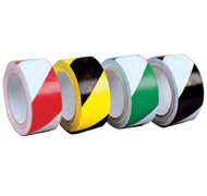A photograph of a 06361 striped hazard warning conformable tape.