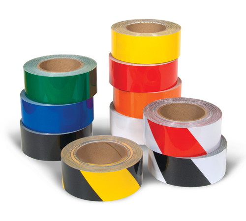 A photograph of a 06405 tuffmark ultra durable floor marking tape.