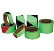 A photograph of a 06378 glow in the dark hazard and safety tapes, with 30 ft per roll.