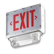 Picture of the Emergi-lite Wet Location Exit Sign/Emergency Light.