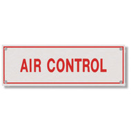 Photograph of the Air Control Aluminum Sprinkler Identification Sign.