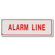 Alarm Line Aluminum Sprinkler Identification Sign