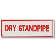 Photograph of the Dry Standpipe Aluminum Sprinkler Identification Sign