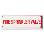 Fire Sprinkler Valve Aluminum Sprinkler Identification Sign