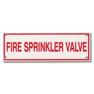 Photograph of the Fire Sprinkler Valve Aluminum Sprinkler Identification Sign.