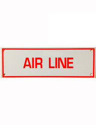 Photograph of the Air Line Aluminum Sprinkler Identification Sign.