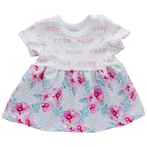 Personalized Sleeved Dress - rose garden (LIMITED EDITION)