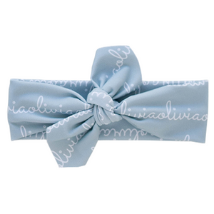 Personalized Knotted Polyester Headwrap - sage (LIMITED EDITION)
