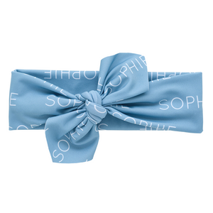 Personalized Knotted Polyester Headwrap - glacier (LIMITED EDITION)