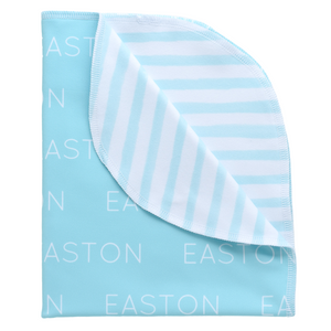 Personalized Double Sided Polyester Blanket - aqua (LIMITED EDITION)