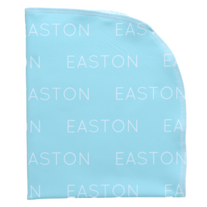 Personalized Single Sided Polyester Blanket - aqua (LIMITED EDITION)
