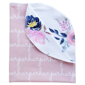 Personalized Double-Sided Polyester Blanket - blush (LIMITED EDITION)
