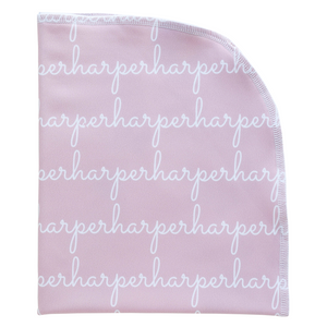Personalized Single-Sided Polyester Blanket - blush (LIMITED EDITION)