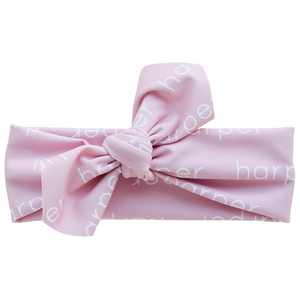 Personalized Knotted Polyester Headwrap - blush (LIMITED EDITION)